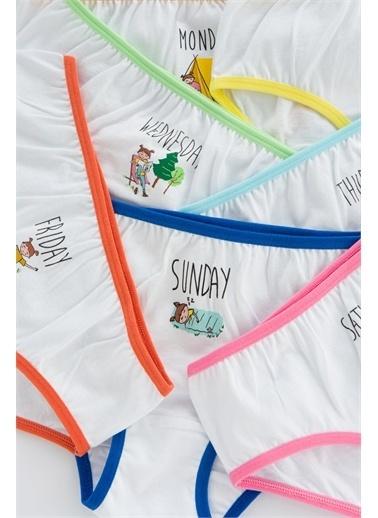 Penti Çok Renkli Kız Çocuk Camp Days 7Li Slip Külot Renkli
